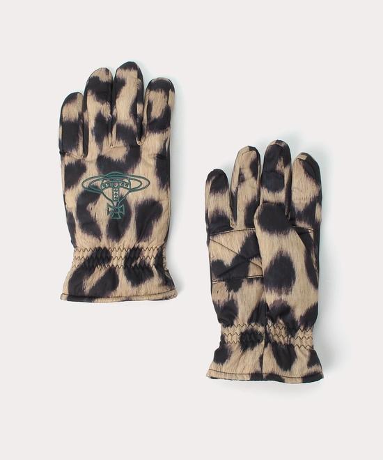 レオパード メンズ手袋