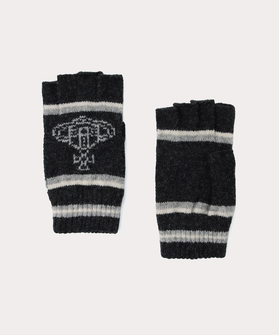 ボーダー×ORB メンズフィンガーレス手袋